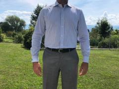 Manschettenhemd 40 BOGGI Gestreift