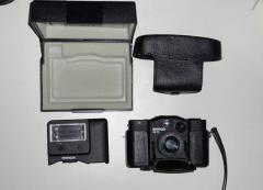 Minox PL 35mm f/2.8 mit Blitz FC-35