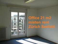 Büro 21 m2, Balkon, Zürich Seefeld, beste Lage, hell, ruhig